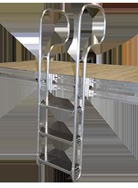 3 step aluminum swim ladder