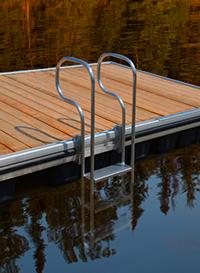 seaco 3 step aluminum swim ladder